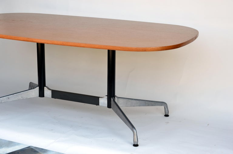 American Beautiful Segmented Base and Bamboo Top Table by Eames for Herman Miller For Sale