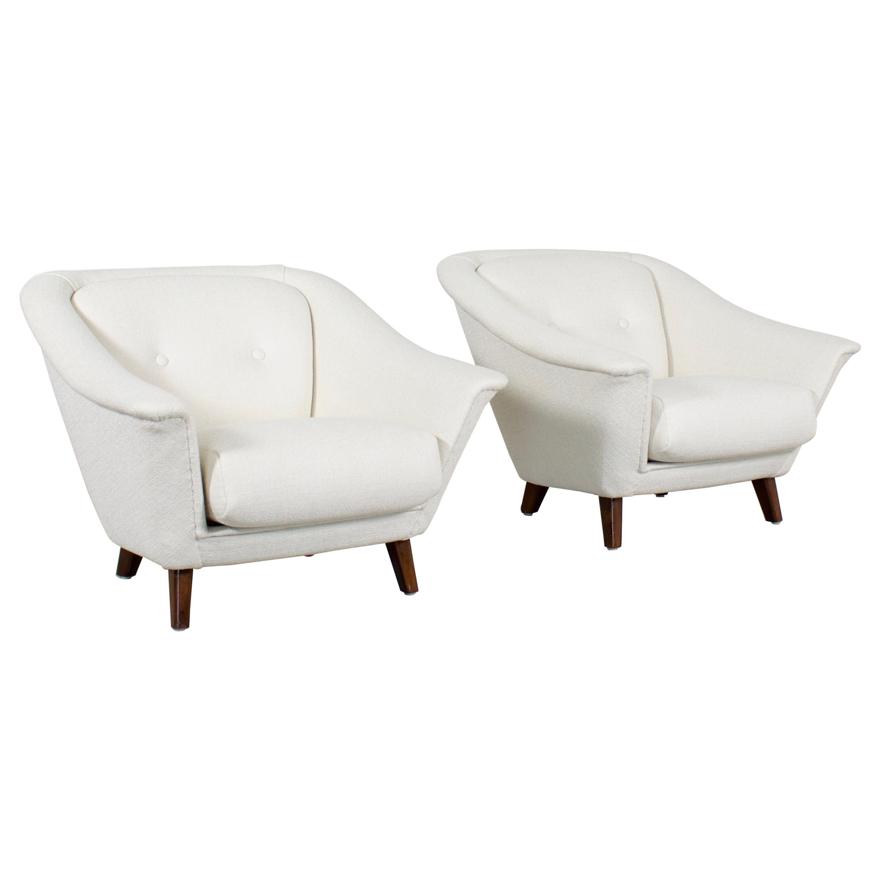 Beautiful Set of Boucle Armchairs, 1960s