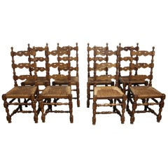 Beautiful Set of Country French Dining Chairs