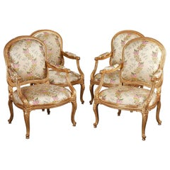 "Beautiful Set of Four Armchairs ""A Chassis"""