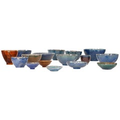 Beautiful Set of Handmade Ceramic Bowls, 1970s