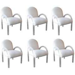 Beautiful Set of Six Dining Chairs by Lion in Frost, 1970s