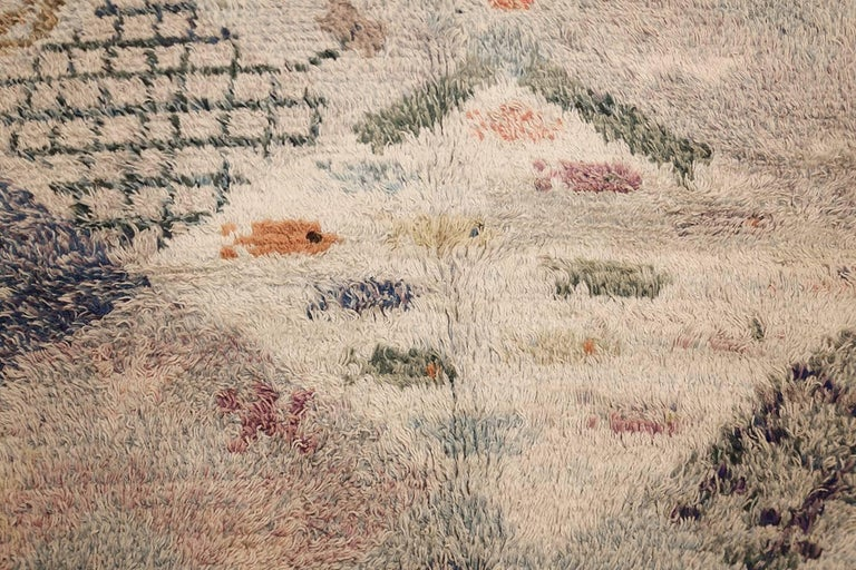 Beautiful Shag Vintage Swedish Rya Rug. Size: 6 ft 5 in x 7 ft 6 in 2