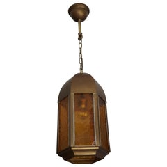 Beautiful Shape and Excellent Condition Gothic Revival Pendant Light W. Dome Top