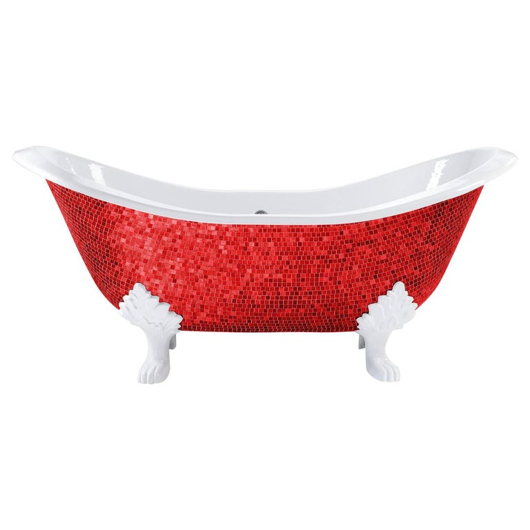 Beautiful  Bathtub Decorated Handmade with Artistic Mosaic For Sale