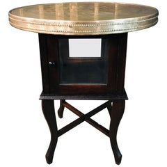 Beautiful Smoking Table with Brass Top