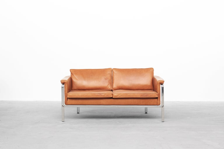 German Beautiful Sofa Two-Seat by Horst Brüning for Alfred Kill International, 1968 For Sale