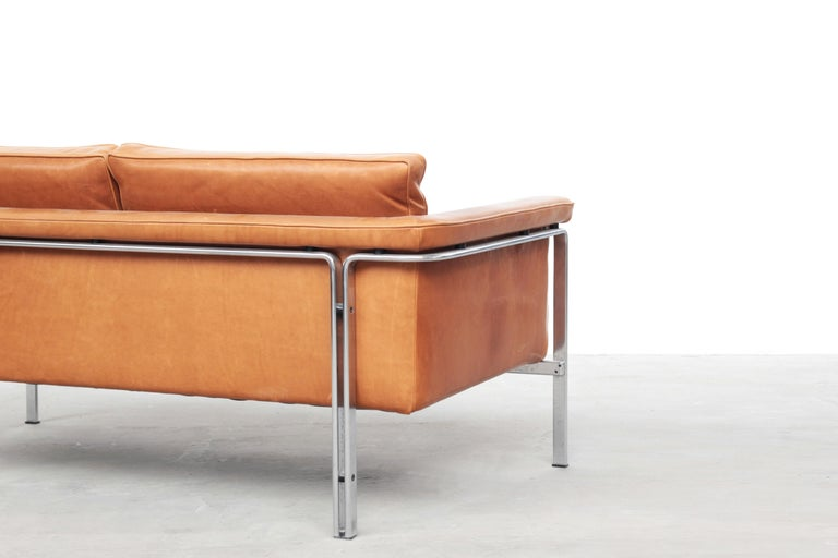 Steel Beautiful Sofa Two-Seat by Horst Brüning for Alfred Kill International, 1968 For Sale