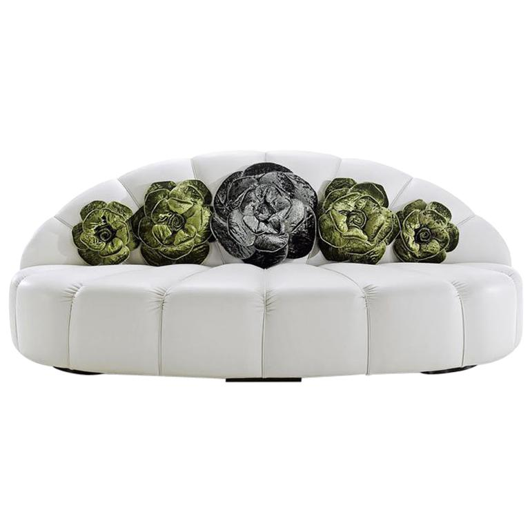 Unusual Sofas For Sale: Beautiful Sofa Unique Design Silk Velvet Flowers On The