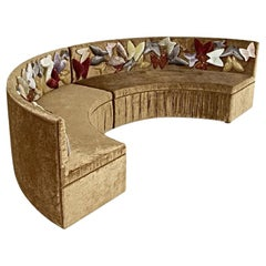 Beautiful Sofa with decorative Silk Velvet or Mosaic Butterflies on back
