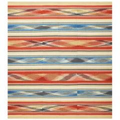Beautiful Square Vintage Swedish Kilim Rug