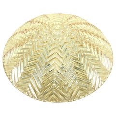 Beautiful Star Pattern Glashuette Limburg Flush Mount Ceiling Light, 1970s