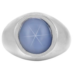 Beautiful Star Sapphire with Platinum Ring