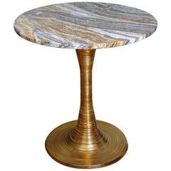Beautiful Studio Glustin Brass and Onyx Pedestal