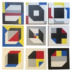 Beautiful Suite of 11 Paintings by Bernard Beraud, 1988, France