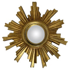 Beautiful Sunburst Starburst Convex Mirror Composition, German, circa 1960s