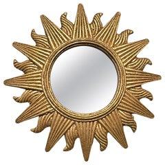Beautiful Sunburst Starburst Mirror Composition, German, circa 1970s