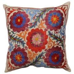 Beautiful Suzani Embroidery Textile Pillow