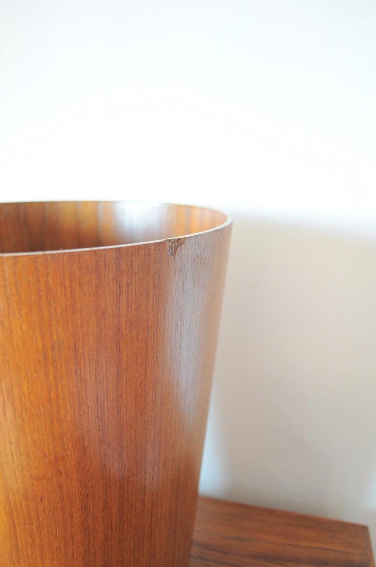 Teak Beautiful Swedish Waste Paper Basket Designed by Martin Åberg for Servex For Sale