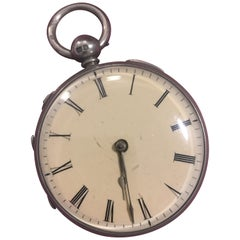 Beautiful Swiss Silver Musical Pocket Watch
