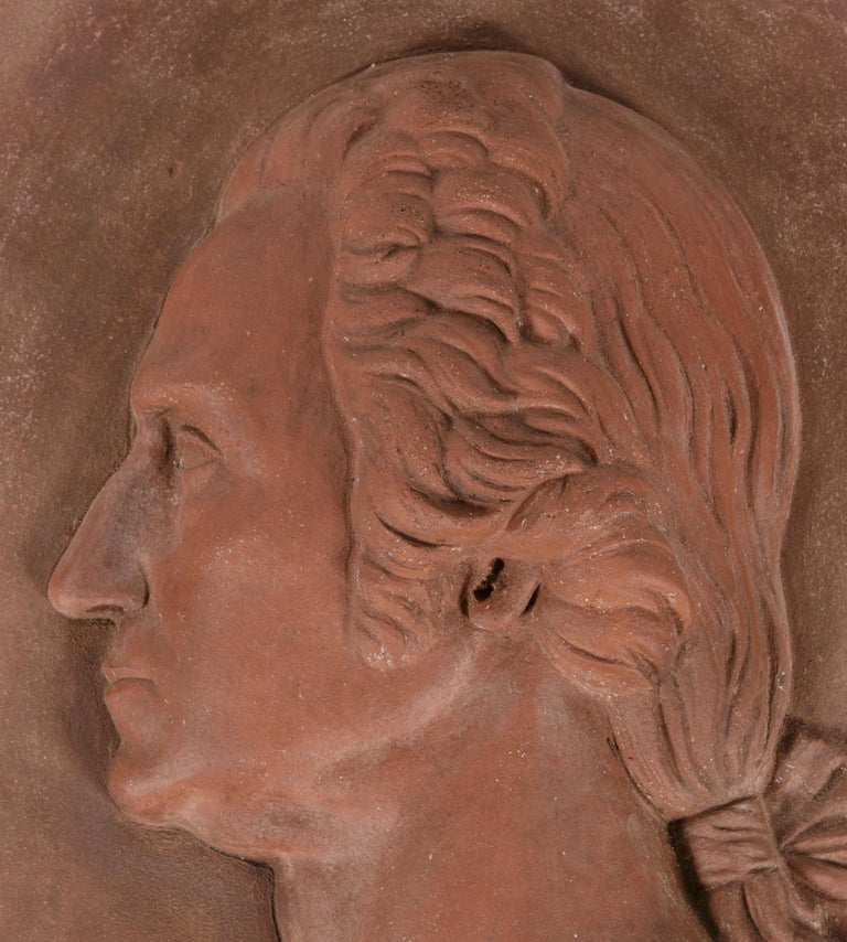 Beautiful Terracotta Bust of George Washington In Good Condition For Sale In York County, PA