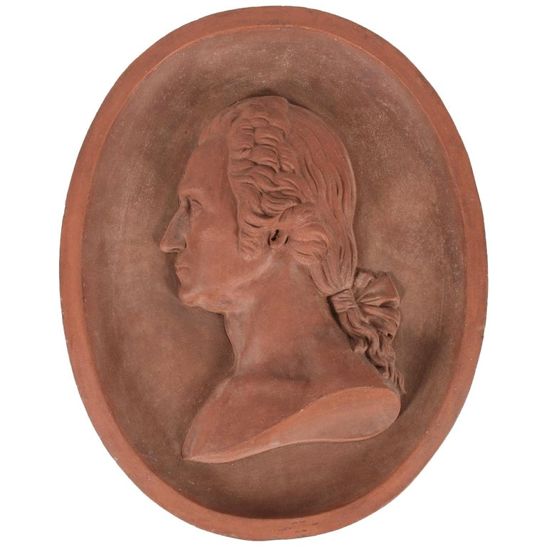 Beautiful Terracotta Bust of George Washington For Sale