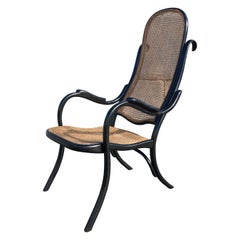 Beautiful Thonet High Back Armchair No 6351 Black, Cane