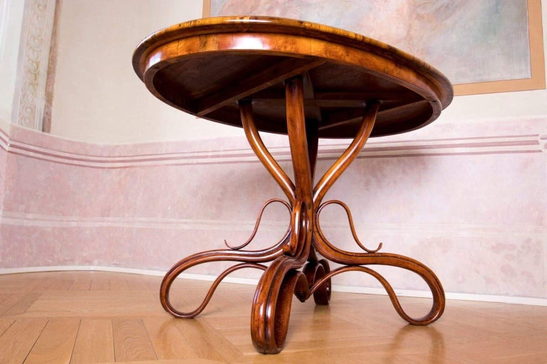 Austrian Beautiful Thonet Restored Table For Sale