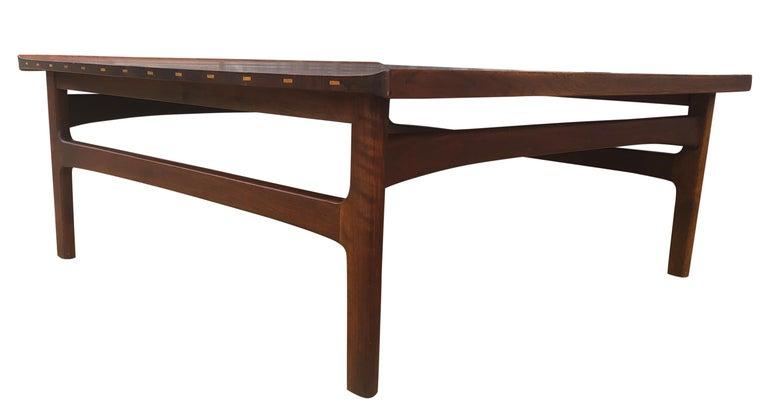 Mid-Century Modern Beautiful Tove & Edvard Kindt-Larsen Teak Coffee Table by DUX For Sale