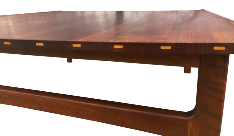 Swedish Beautiful Tove & Edvard Kindt-Larsen Teak Coffee Table by DUX For Sale