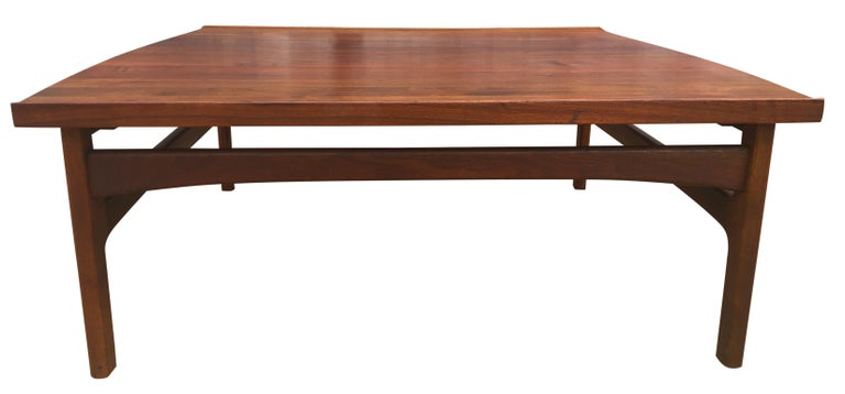 Beautiful Tove & Edvard Kindt-Larsen Teak Coffee Table by DUX For Sale 1