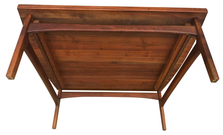 Beautiful Tove & Edvard Kindt-Larsen Teak Coffee Table by DUX For Sale 2