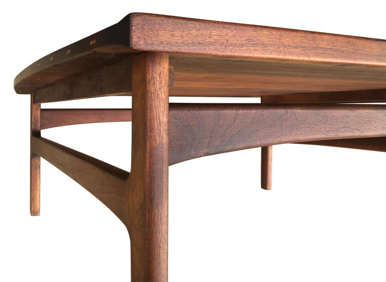 Beautiful Tove & Edvard Kindt-Larsen Teak Coffee Table by DUX For Sale 3