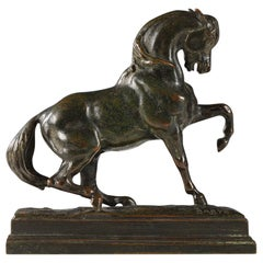"Beautiful ""Turkish Horse n°3"" Bronze Sculpture by Barye & Barbedienne"