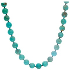 Beautiful Turquoise Bead Necklace