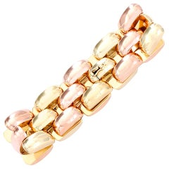 Beautiful Two-Color Gold Link Bracelet