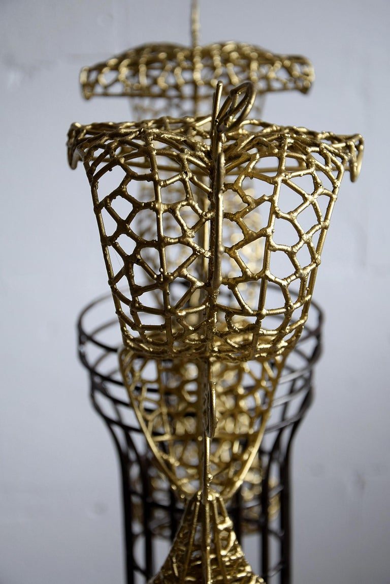 Beautiful Vase Sculpture by Annacleto Spazzapan For Sale 4
