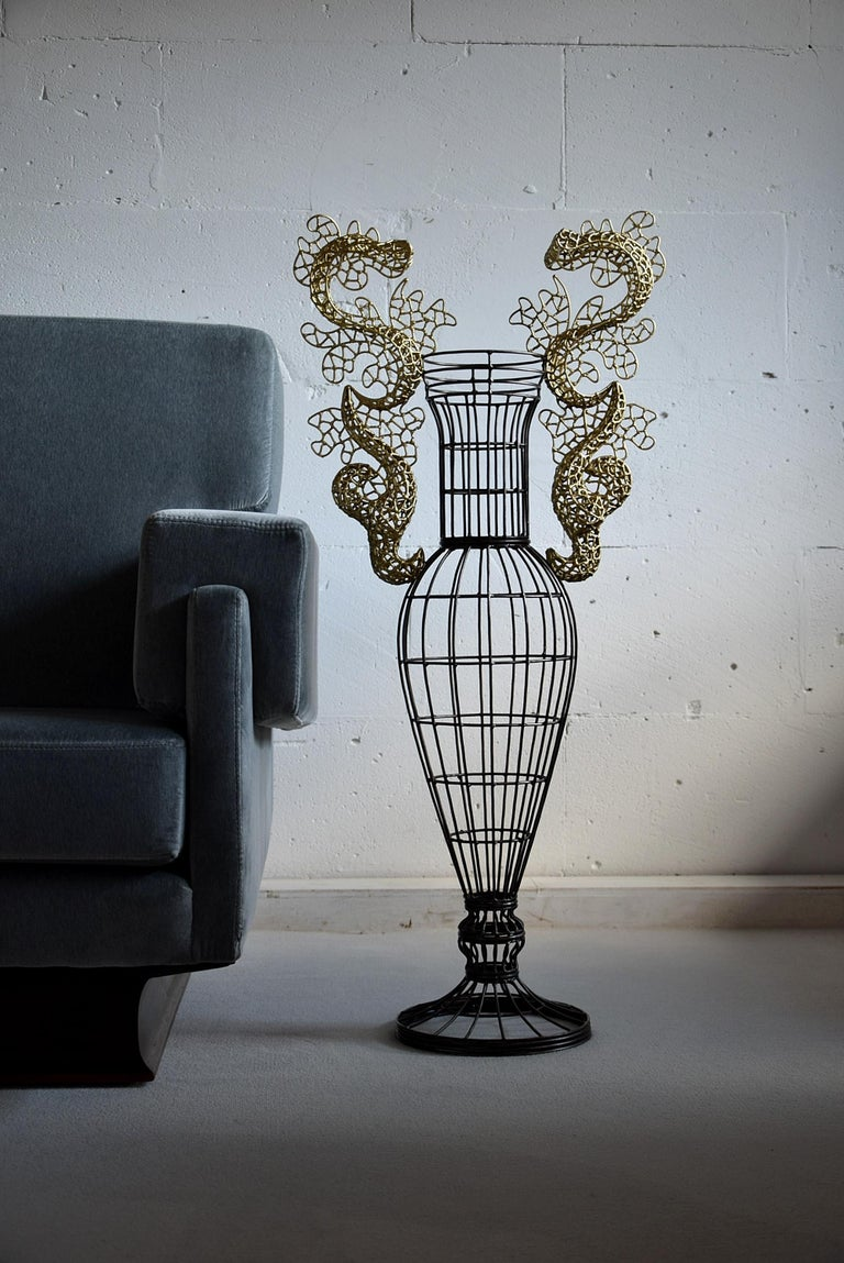 Beautiful Vase Sculpture by Annacleto Spazzapan For Sale 7
