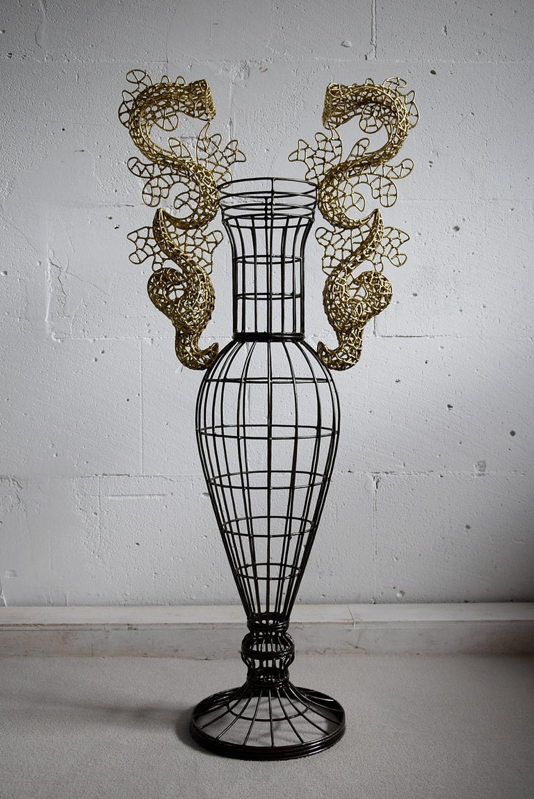 Modern Beautiful Vase Sculpture by Annacleto Spazzapan For Sale