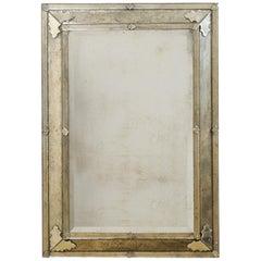 Beautiful Venetian-Style Rectangular Mirror, Artisan Created and Hand-Silvered