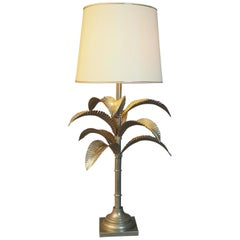 Beautiful Very Large Midcentury Palm Tree Table Lamp, Italy, circa  1970s