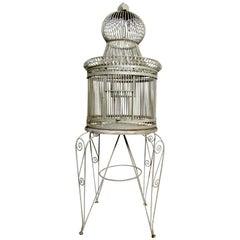 Beautiful Victorian Bent Iron Bird Cage