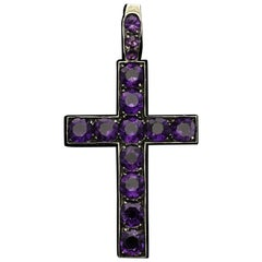 Beautiful Victorian Latin Style Cross Pendant, circa 1860s