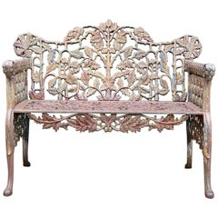 Beautiful Victorian Style Cast Iron Garden Bench Seat Ornate
