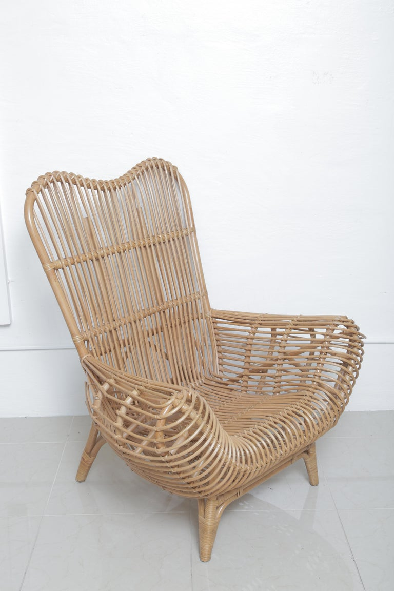 Beautiful vintage Albini style rattan chair.