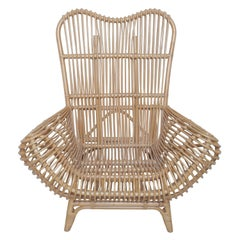 Beautiful Vintage Albini Style Rattan Chair