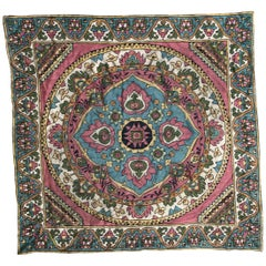 Beautiful Vintage Armenian Hand Embroidered Table Cloth