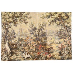 Beautiful Vintage Aubusson Style French Jaquar Tapestry