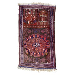 Beautiful Vintage Baluch Afghan Rug