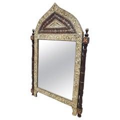 Beautiful Vintage Carved Camel Bone Mirror
